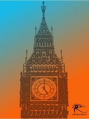 QR Pointillism - Big Ben I